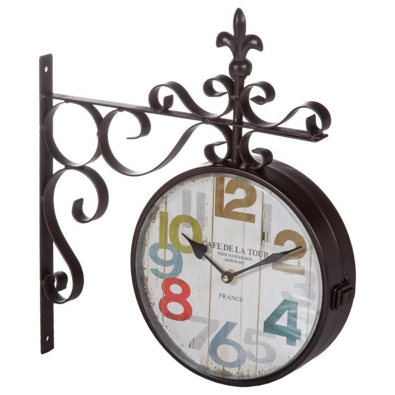 doble reloj  de pared
